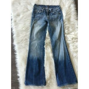 7 For All Mankind Flare Ombre Fade Design Denim